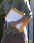 Exclusive: Zac Efron Leaving A Business Meeting